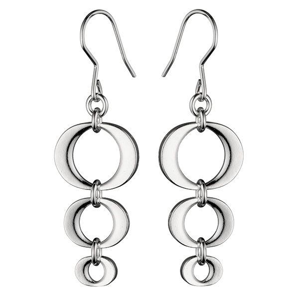 Silver Korona earrings by Kalevala