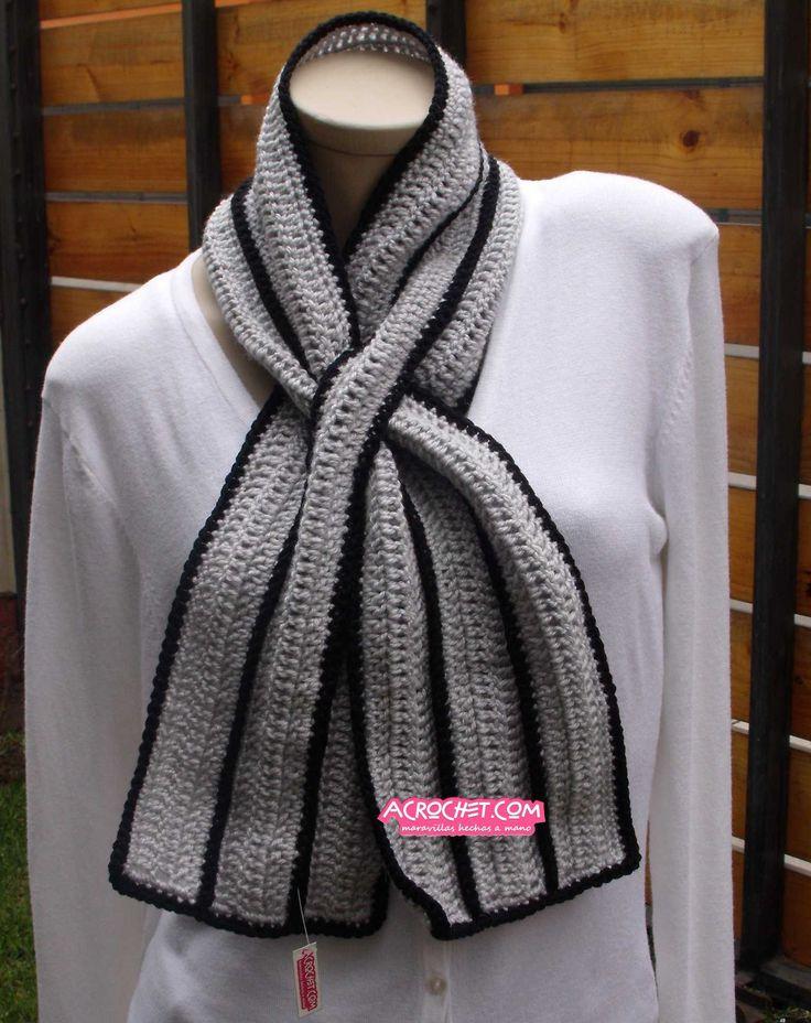 28 mejores imágenes de bufandas en Pinterest | Crochet bufanda, Chal ...