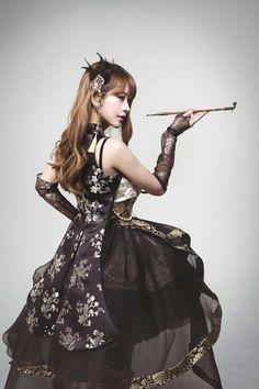 Hanbok-inspired Gothic lolita.