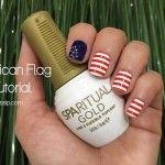 {Tutorial} American Flag Nail Look