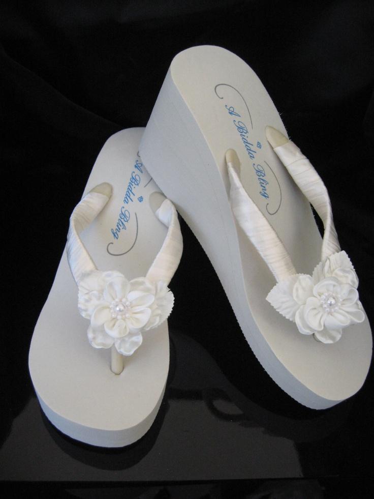 bridal ivory wedge flip flops bridal sandals bridal by