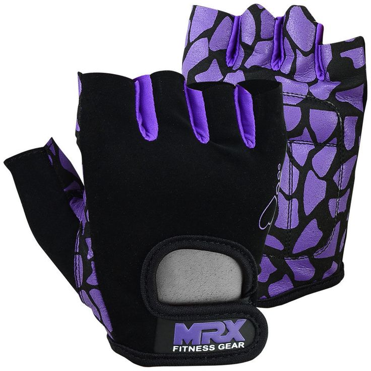 Women Weight Lifting Gloves Crossfit Ladies Fitness Glove Gym workout Purple/BLK #MRX