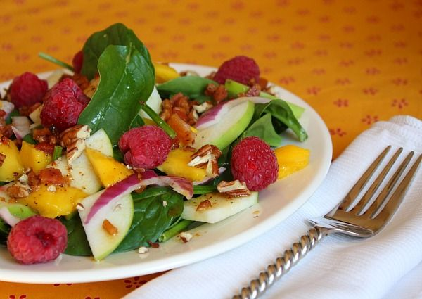 Baby Spinach Salad with Warm Citrus-Bacon Vinaigrette