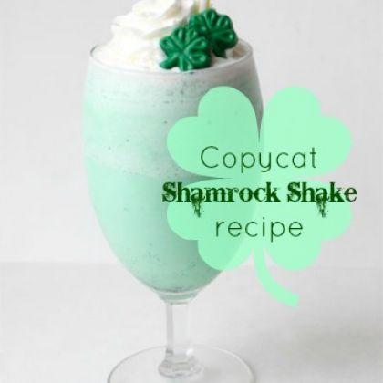 Want, need, MMMM! Copycat Shamrock Shake recipe