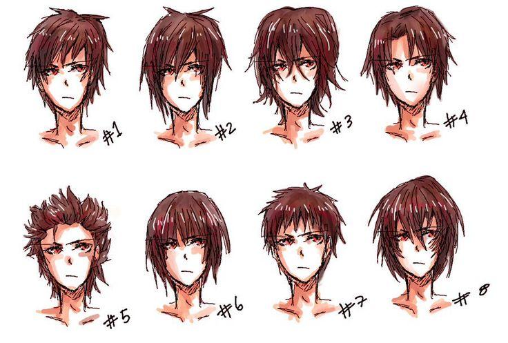 Boys / Mens Hairstyles ----Manga Anime Drawing Art Hair Hairstyles ...