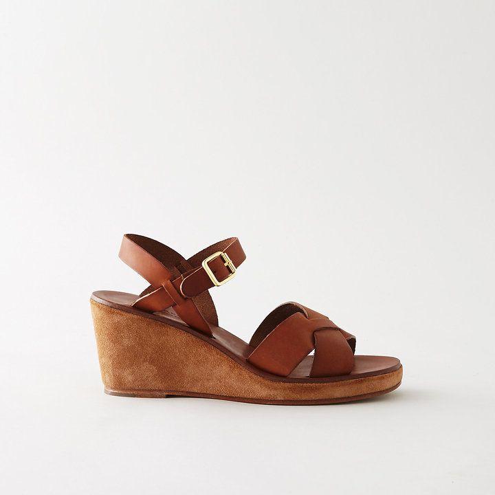 A.P.C. classic wedge sandals