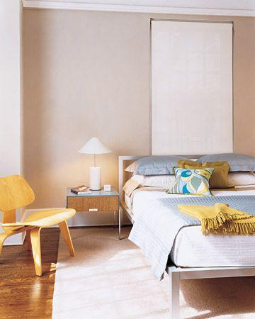Clean modern bedroom design