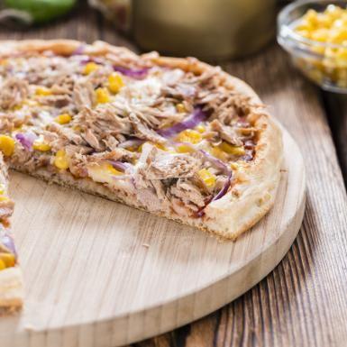 Healthy Tuna and Sweetcorn Pizza