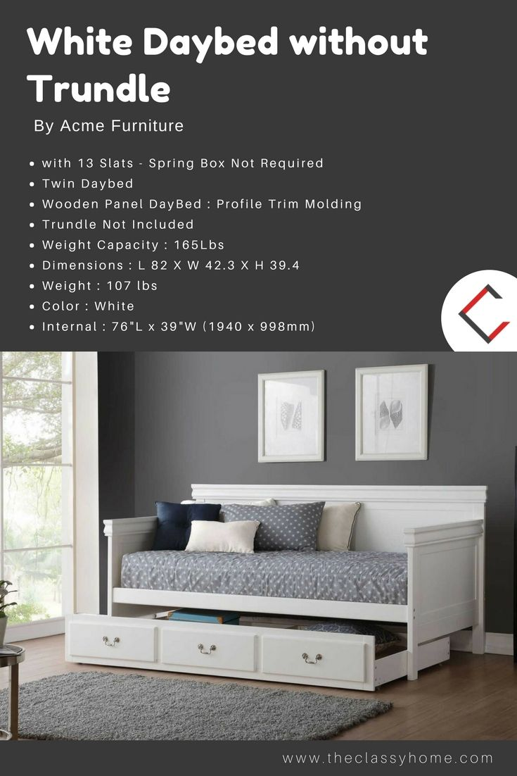 Acme Furniture Bailee White Daybed without Trundle