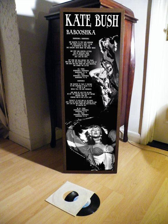 KATE BUSH babooshka lyrische blad promo poster afdrukken, wuthering heights