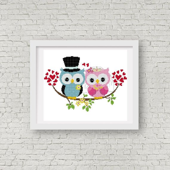 Owls Cross Stitch Design and Pattern  INSTANT by StitchValley