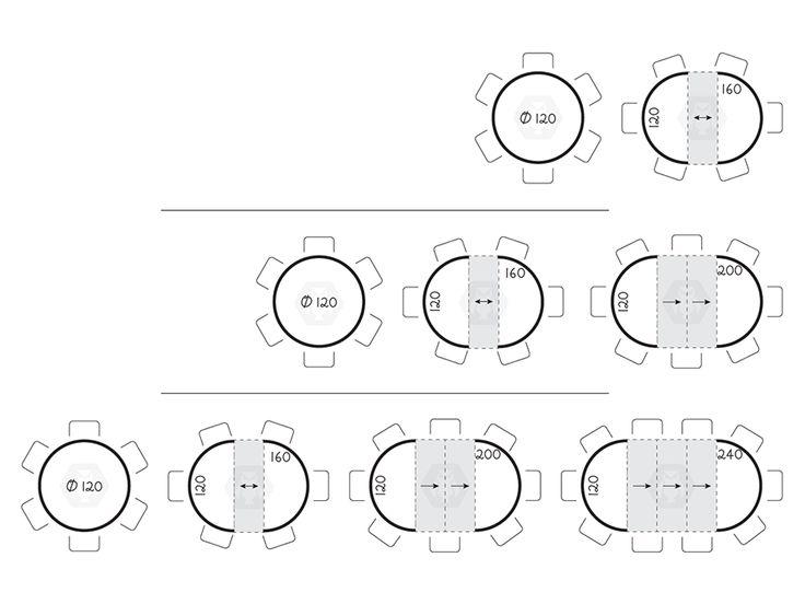 Tavolo rotondo e posti a tavola