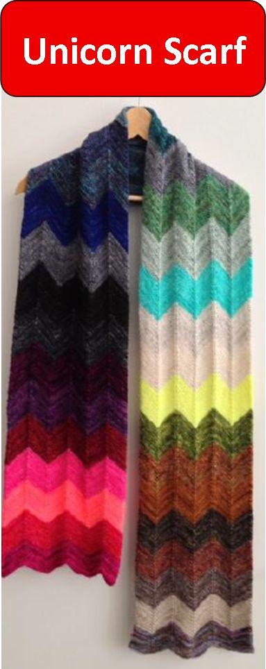 Unicorn Knitting Books : Unicorn scarf kit featuring madelinetosh tail