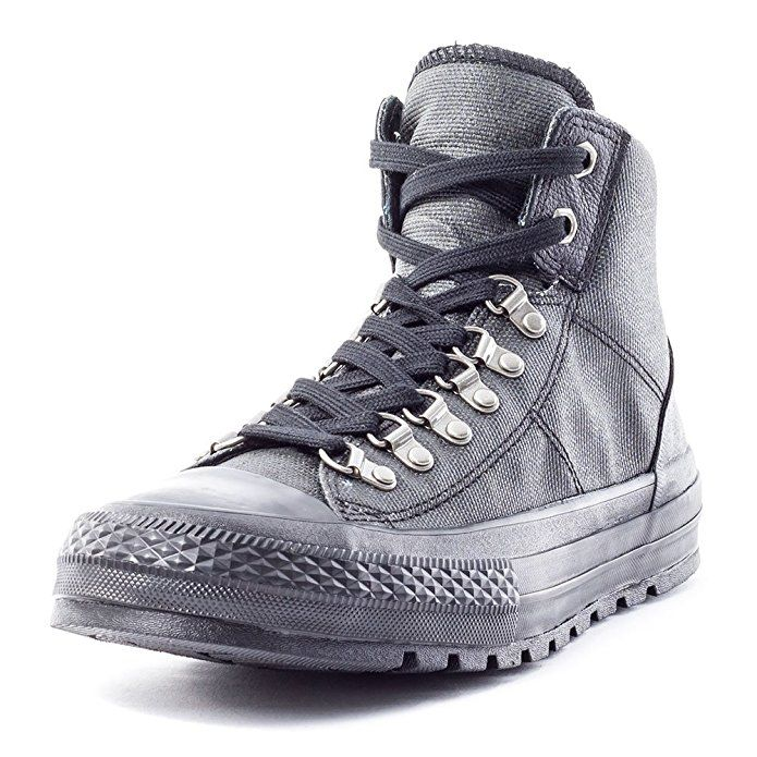 Black Converse Combat Boots   Black leather converse, All black ...