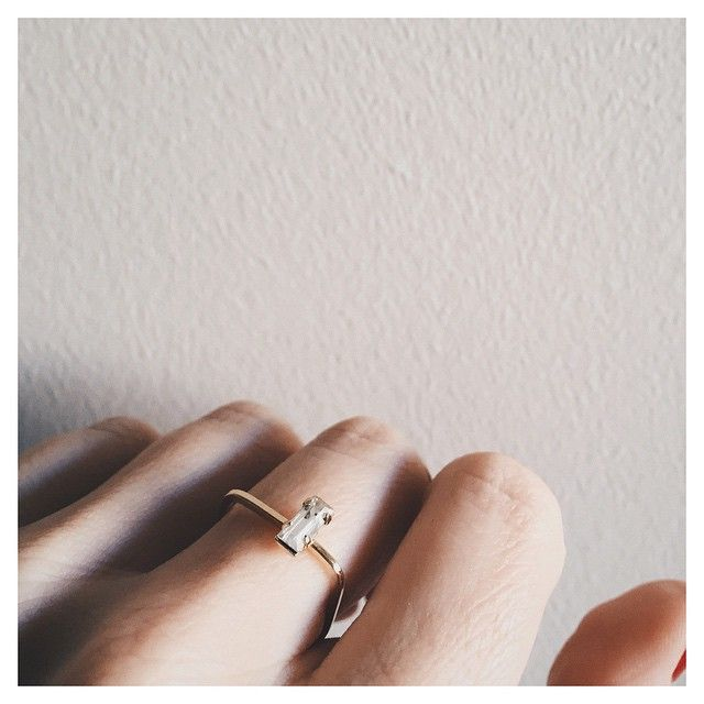 That skinny square band with dainty sparkling crystal is kinda everything...