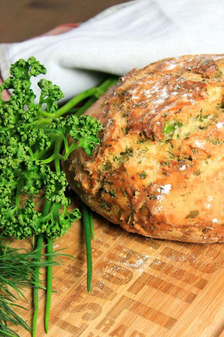 Fast herbal bread