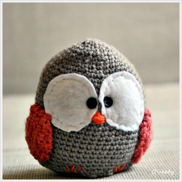 cute crochet bird on DaWanda