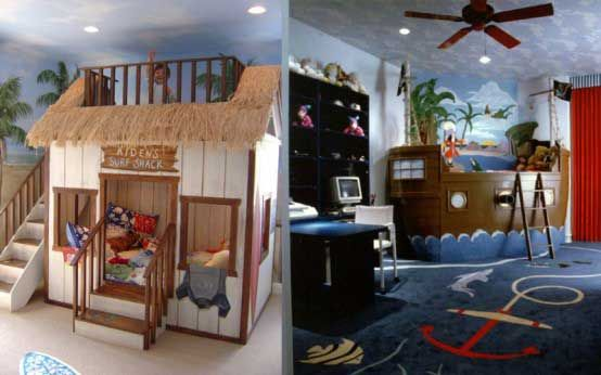 Cowboy themed kids bedroom and sea adventure themed for Cowboy kids room