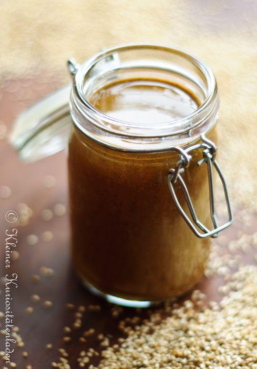 Kleiner Kuriositätenladen: Tahini/Tahina, selbstgemacht (sesampaste für hummus)