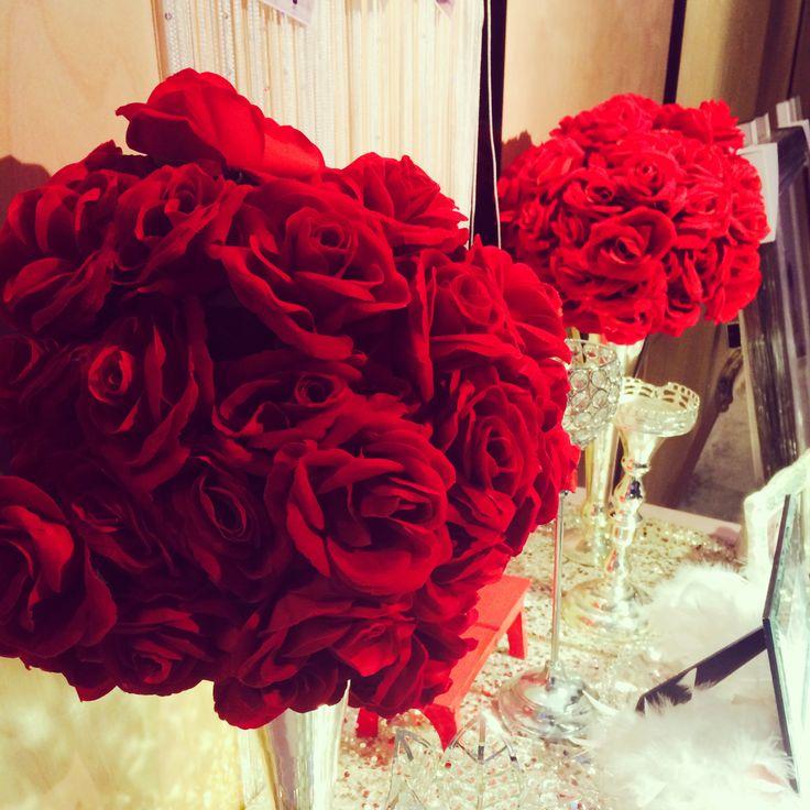 결혼식장에 장미 꽃
