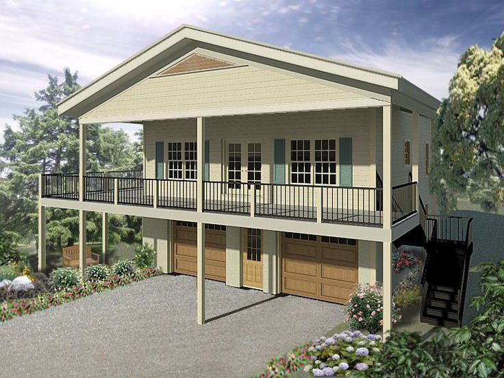 Best 25 garage with apartment ideas on pinterest above for Deck over garage plans