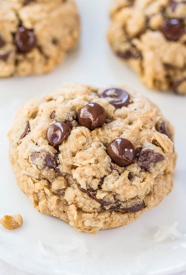 Oatmeal Chocolate Chip Cookies | Chocolate chips, Shredded coconut ...