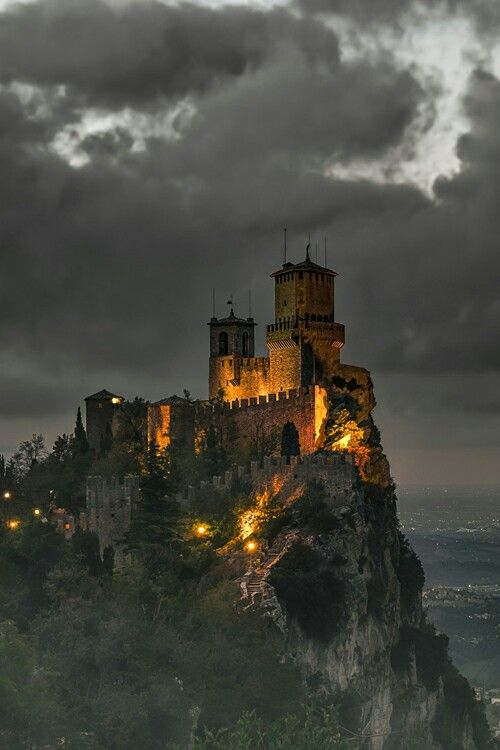 Who doesn't want to visit a castle on a cliff overlook?