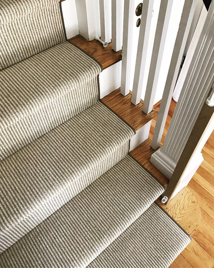 """46 Likes, 2 Comments - The Carpet Workroom (@thecarpetworkroom) on Instagram: """"Love this clean look of these striped stairs in Milton we installed today! @fibreworks style…"""""""