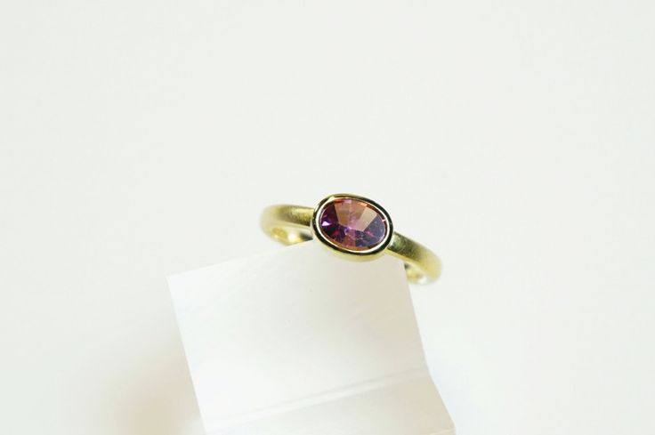 Rosa Turmalin-Ring, 18 ct Gold, 750er von Formgebung-Schmuck Iris Thönes auf DaWanda.com