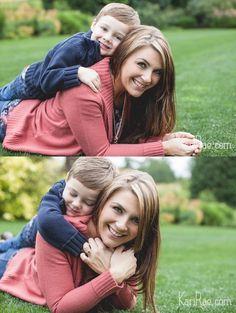 Mom & Son poses, Mommy & Me Session | Portland Family Photographer, Kari Rae Photography