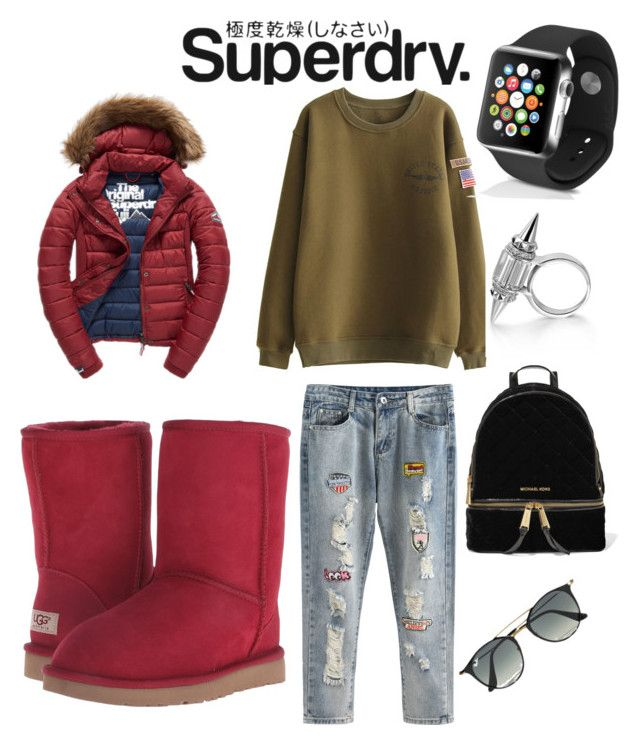 #superdry The Cover Up – Jackets by Superdry: Contest Entry by elenazaharia on Polyvore featuring polyvore, fashion, style, Fuji, UGG, MICHAEL Michael Kors, Apple, Ray-Ban, Superdry, clothing and superdry