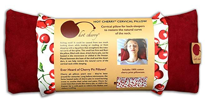 Hot Cherry Cervical Neck Pillow in