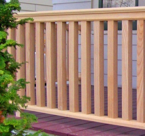 Square Porch Balusters Traditional Wood Spindles For Cedar Railings In 2020 Porch Balusters Balcony Railing Design Railings Outdoor