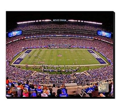 15c5663b03d New York Giants MetLife Stadium Canvas Framed Over With 2 Inches Stretcher  Bars-Ready To