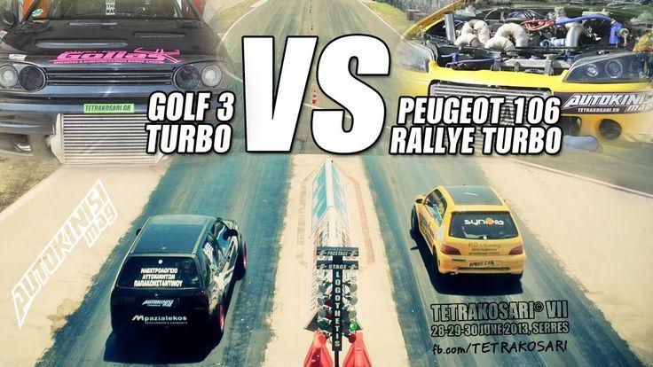 Peugeot 106 Rallye Turbo vs VW Golf III Turbo // TETRAKOSARI© VII