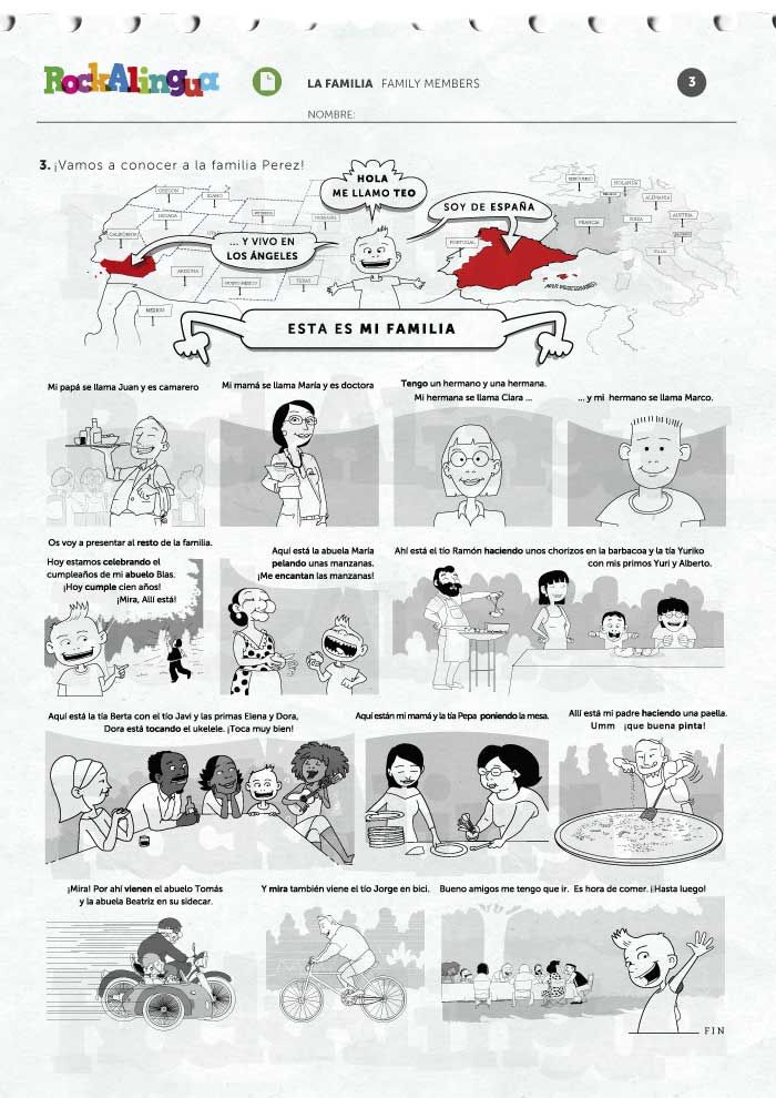 Family Members Worksheets And Activities Clase De