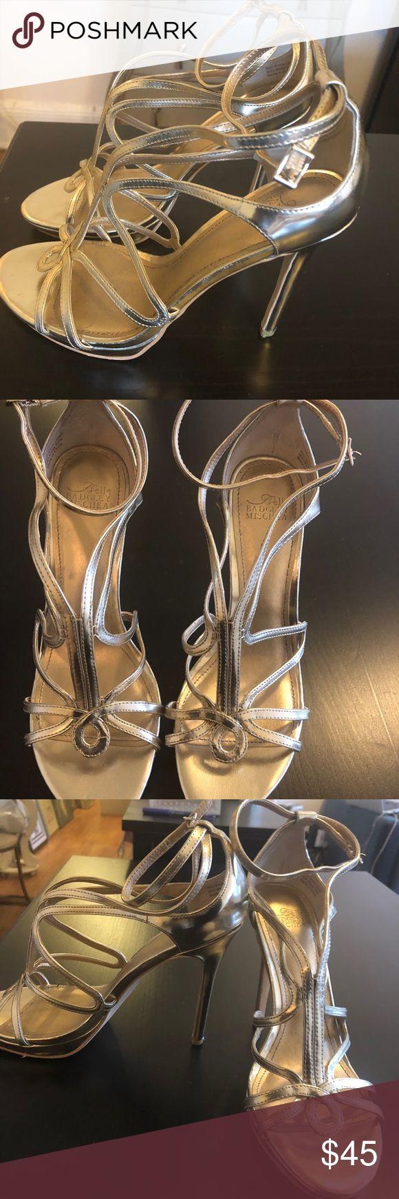 badgley mischka Gold strappy sandals! 7.5 Perfect badgley mischka gold sandals! Perfect for wedding, party or more Badgley Mischka Shoes Sandals