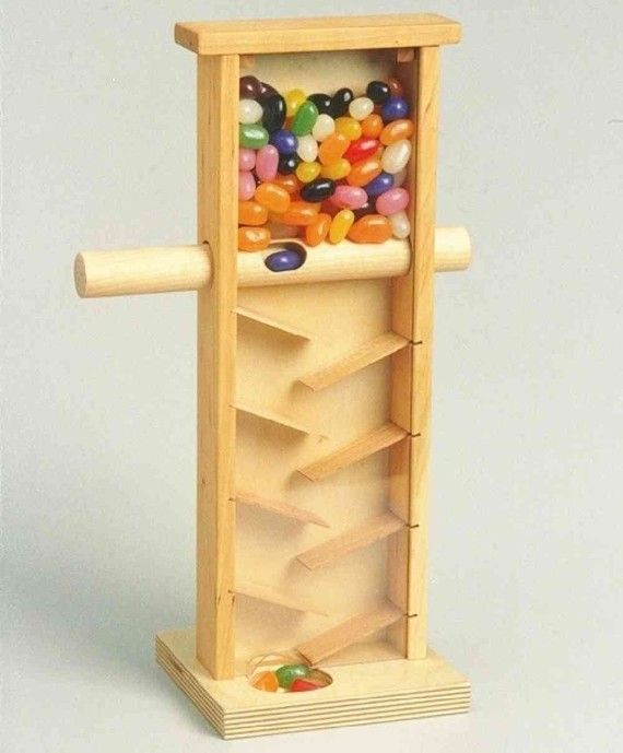 Handcrafted wooden JELLY BEAN MACHINE by stumppondtoy on Etsy, $48.95