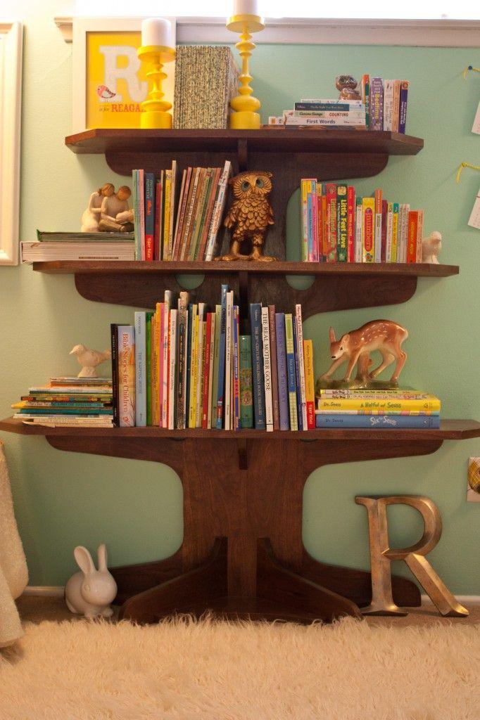 300 best book display images on pinterest child room for Corner tree bookcase