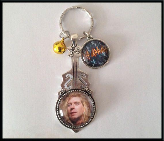 Porte-clés Thème musique Def Leppard Steve Steaming #porteclés #keys #defleppard #steveclark #~faitmain #bijoux #bijou #cadeau #accessoires #mode