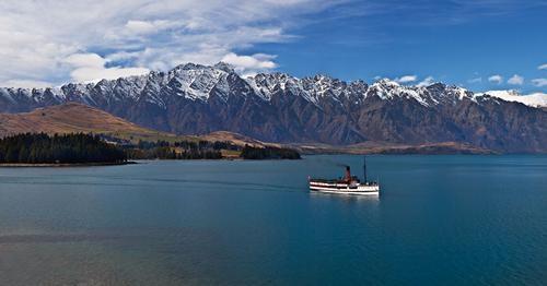 Scenic cruise on Lake Wakatipu aboard vintage steamship TSS Earnslaw.