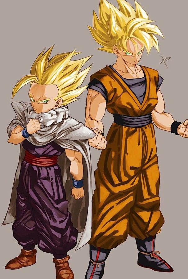 e5d5efbe Gohan e Goku - Super Saiyajins   DBZ/S   Dragon ball, Goku, gohan, Dragon