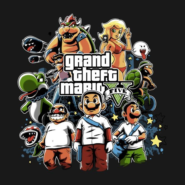 VIOLENT MARIO T-Shirt - Super Mario Bros T-Shirt is $12.99 today at Once Upon a Tee!