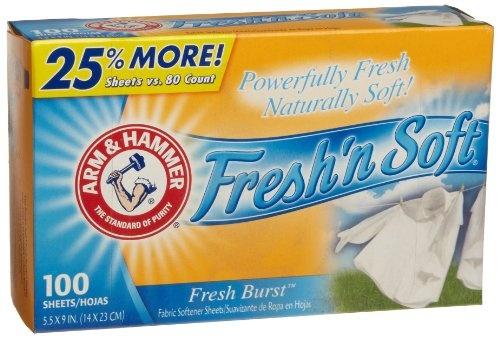 -- Arm & Hammer Fresh Burst dryer sheets! ( so fresh and so clean )