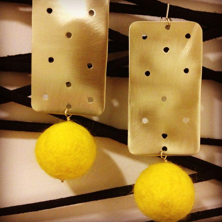 Azande and felt earrings
