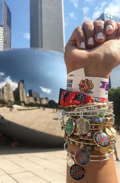 ALEX AND ANI Musically Inspired Collection   Soul Sister Charm Bangle   Peace Love Music Charm Bangle   Free Spirit Charm Bangle    Lollapalooza Charm Bangle   Lollapalooza 2016