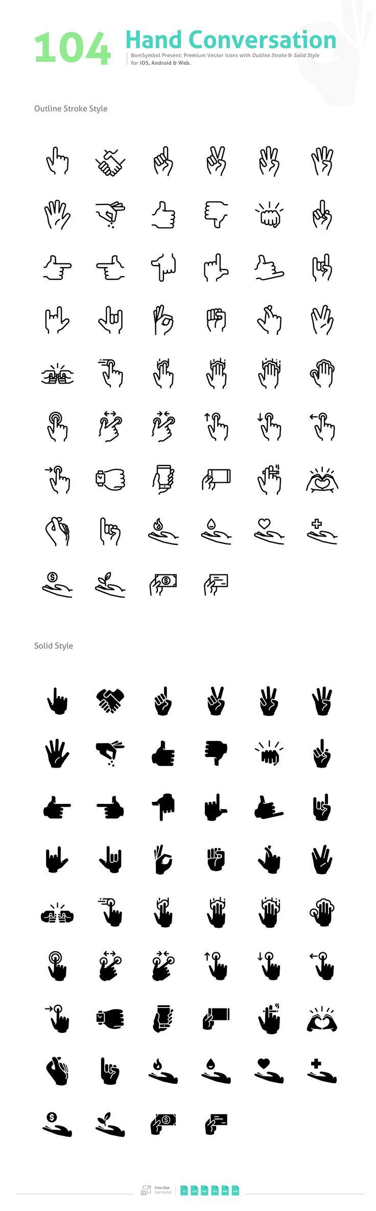 Hand Conversation - Icons - 2