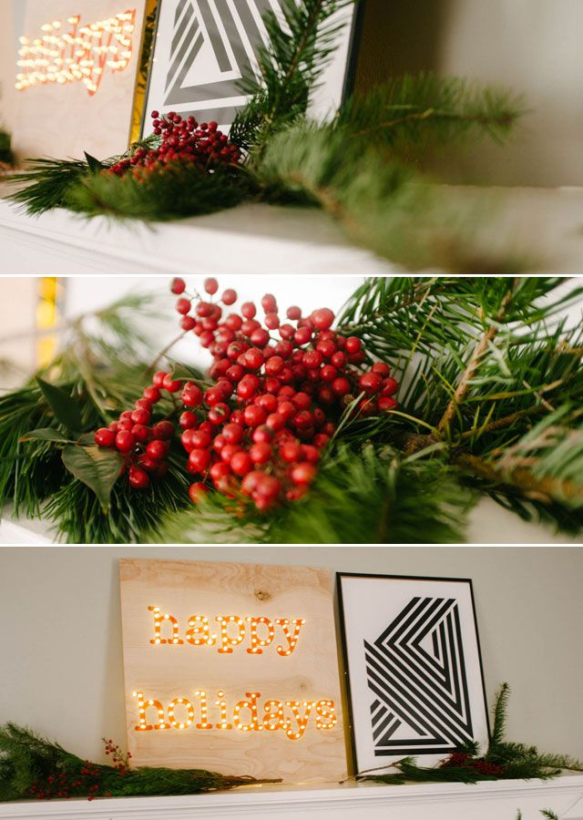 DIY Happy Holidays Marquee Sign