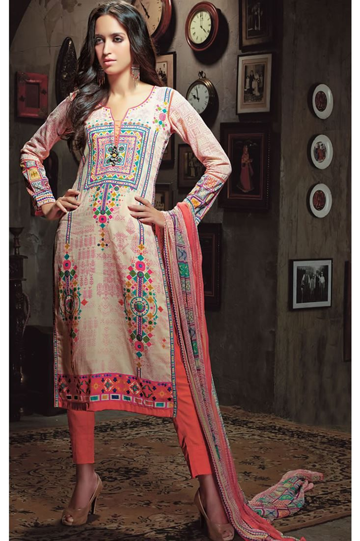 Designer Party Wear Stylish Straight Cut Suits.