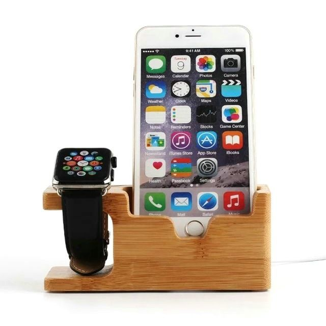 Bamboo Wood Charging Stand Dock For Apple //Price: $21.98 & FREE Shipping //     #hashtag1